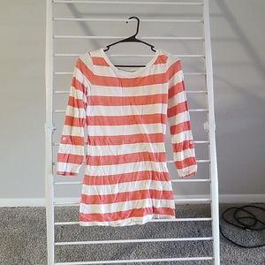 Long Sleeve Light Orange Striped Shirt